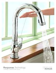 kitchen faucet not working kohler touchless faucet fashionable faucet response technology