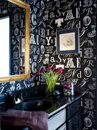 Powder Room Makeover Ideas Bold Beautiful Powder Room Makeover Hgtv