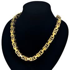 mens byzantine necklace gold images 22 quot 26 quot 28 quot men byzantine chain 8mm gold color mens thick gold jpg