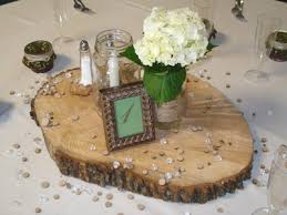 wood centerpieces wood slabs for centerpieces weddings style and decor do it