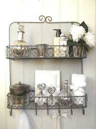 shabby chic vintage metal wall shelf unit rack hooks storage