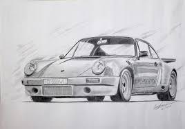 porsche cartoon drawing saatchi art porsche 911 rs 1974 pencil sketch drawing by sreejith