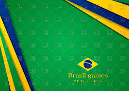 Brazil Flag Image Bright Background In Brazilian Flag Colors Royalty Free Vector