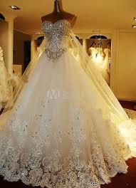 milanoo robe de mari e luxe superbe plein de cristal a ligne sweetheart perlage robe de