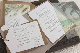 palm tree wedding invitations rustic palm tree wedding invitation printed pocket fold
