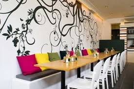 Interior Designs For Restaurants by Interior Design Wall Painting Gingembre Co