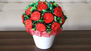 cupcake flowers diy flower cupcake bouquet
