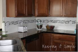 Kitchen Backsplash How To Install by Keeping It Simple How To Install A Kitchen Back Splash With
