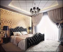 Gold And Grey Bedroom by Charming Grey Bedroom Wallpaper Art With Black Curtain And Cozy