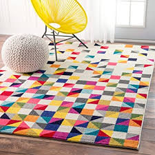 4 X 8 Kitchen Rug Contemporary Geometic Triangle Mosaic Multi Area Rugs