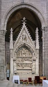 gothic architecture boundless art history dagobert s tomb is shown elaborately decorated