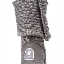 womens paw boots size 11 55 bearpaw boots bearpaw knit 658w gray ii size 11