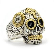 art deco skeleton ring holder images Shop mexican skull jewelry on wanelo jpg