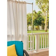 Turquoise Curtain Rod Railing Curtain Rod And 2 Posts Improvements Catalog