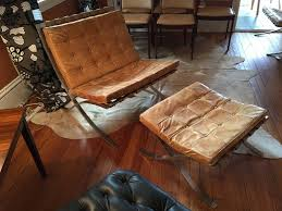 Barcelona Chair Interior Early Ludwig Mies Van Der Rohe Barcelona Chair With Ottoman By