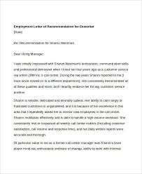 coworker recommendation letter 10 free word pdf documents