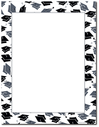 Free Halloween Border Paper by Mortarboards And Diplomas Are Featured On This Graduation Themed