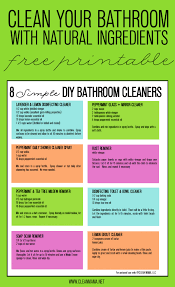 how to make natural bathroom cleaner 8 simple diy bathroom cleaners free printable cleaner free