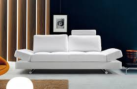 White Leather Corner Sofa Bed White Leather Sofa Bed Sleeper With Adjustable Arms