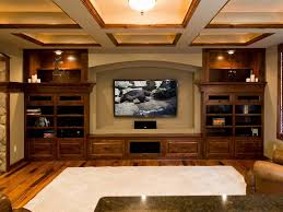 interior miraculous basement home theater room ideas with cream
