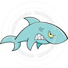 cartoon angry shark by kenbenner toon vectors eps 22603