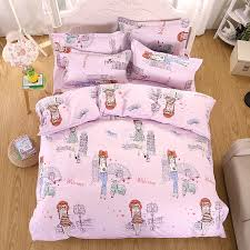 Travel Duvet Cover Pink Queen Bedding Pink Girls Embroidery Floral Duvet Cover Set