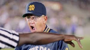 Lou Holtz Memes - lou holtz fights for notre dame s irish logo against espn s max