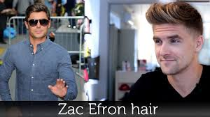 zac efron hair men u0027s hairstyle inspiration tutorial for men by