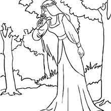 fairy sleeping on a flower coloring pages hellokids com