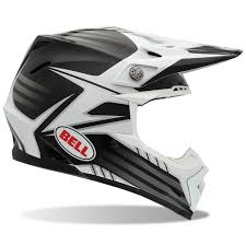 motocross helmet with face shield bell moto 9 carbon fibre pinned white black motocross helmet quad