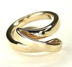 ribbon ring golden ribbon ring wise jewellery