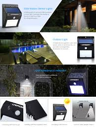 Outdoor Solar Lights On Sale by Urpower Solar Lights 8 Led Wireless Waterproof Motion Sensor