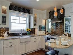 kitchen white beveled subway tile green glass tile mini subway