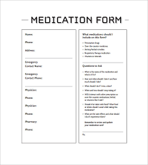 medication card template u2013 13 free printable sample example
