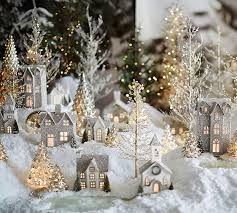 German Christmas Decorations For Sale by Lit German Glitter Village Houses Benefiting Give A Little Hope