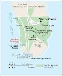 Naval Base San Diego Map by Cabrillo National Monument U2013 John Mckinney
