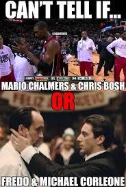 Chris Bosh Memes - mario chalmers chris bosh vs fredo michael http