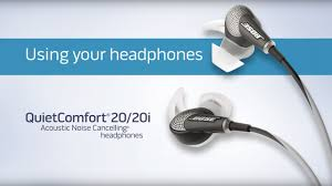 Bose Quiet Comfort 20 Headphones How To Use The Controls On Your Bose Quietcomfort 20 And 20i