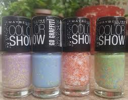 top 4 maybelline color show go graffiti nail polishes reviews