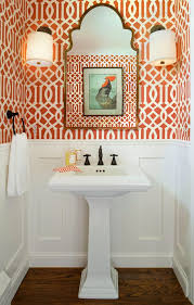 powder room wallpaper ideas powder room traditional with kohler