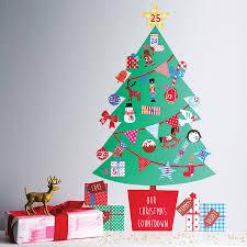 christmas wall stickers wall art kids personalised advent calendar tree wall sticker