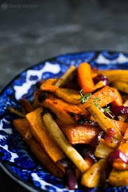 Roasted Vegetable Recipe by Cider Roasted Root Vegetables Simplyrecipes Com