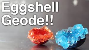 Geode Ring Box Diy Eggshell Geode Youtube