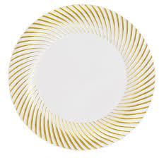 10 25 white silver florence plastic dinner wedding plates