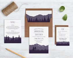 wedding invitation sets rustic mountain wedding invitation sets blue weddings
