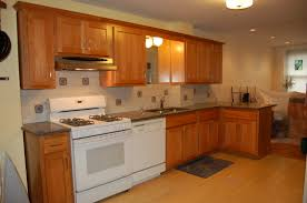 furniture brown kitchen cabinet refacing and white oven plus sink