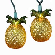 pineapple amazon com kurt adler 10 light glass look pineapple light set