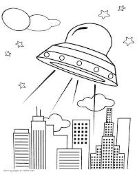 printable ufo coloring page