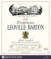 learn about st julien bordeaux wine label of château léoville barton 1982 st julien bordeaux