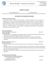 Automotive Resume Sample by Automotive Technician Resume Sample Resumedoc